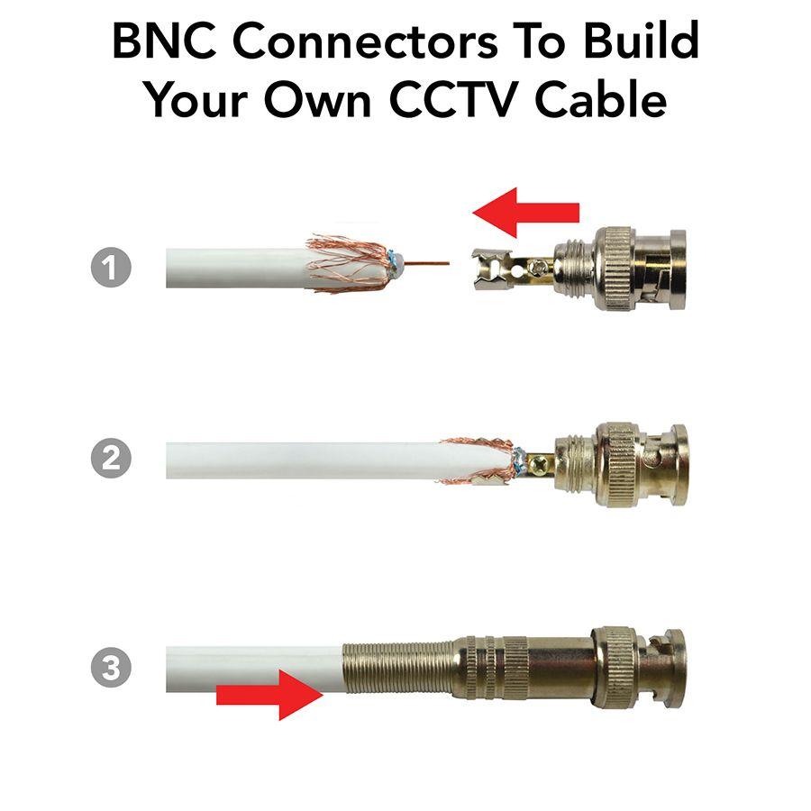 آموزش فیش BNC پیچی دوربین مداربسته